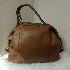 Cynthia Vincent Leather Satchel Handbag